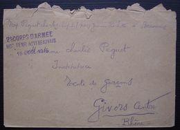 Beauvais 1916 (Oise) 2e Corps D'armée Hôpital Temporaire N°11, Lettre Pour Givors - Postmark Collection (Covers)