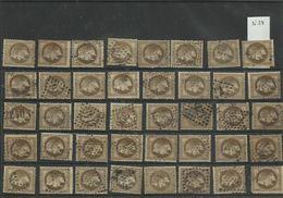 Plaquette De 40 Napoléon Numéros30 Lot 18 - 1863-1870 Napoléon III Lauré