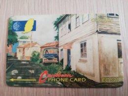 GRENADA  $ 40,- GPT GRE-10CGRC   STREET SCENE GOUVYAVE        MAGNETIC    Fine Used Card    **2249** - Grenada
