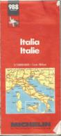 CARTE Michelin 988 ITALIE (1988) Au 1/1.000.000 - Maps/Atlas