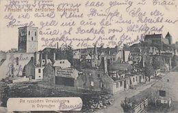 CARTE ALLEMANDE - GUERRE 14-18 - NEIDENBURG - NIDZICA - POLOGNE - ÉGLISE ET MARCHÉ - Guerre 1914-18