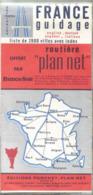 """Carte Routière France Guidage """"Plan Net"""" De 1988 - Offerte Par France-Soir (Editions Planchet) - Maps/Atlas"""