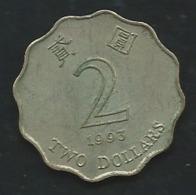 2 DOLLAR 1993 HONGKONG  Pia 22507 - Hong Kong
