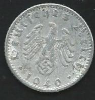 DEUTSCHES REICH 1940 D 50 Reichspfennig Pia 22511 - [ 4] 1933-1945: Drittes Reich