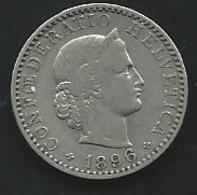 Suisse 20 Rappen 1896 Pia 22606 - Suisse