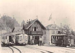 BVA - Gare De Chamby Cor. MOB -  Chemins De Fer électriques Veveysans CEV - C.E.V. Ligne De Chemin De Fer -Train - VD Vaud