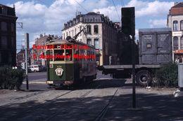 Reproduction D'unePhotographie D'un Tramway Urbain Ligne H Gare-Haubourdin à Lille En 1965 - Reproductions