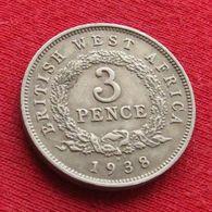 British West Africa 3 Pence 1938 H Afrique - Münzen