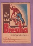 RARISSIME : PROTEGE CAHIER CAFE  BRESILIA  - - Protège-cahiers