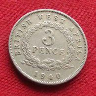 British West Africa 3 Pence 1940 H Afrique - Münzen
