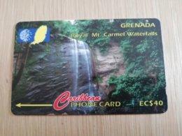 GRENADA  $ 40,- GPT GRE-13CGRA    ROYAL MT CARMEL WATERFALLS     MAGNETIC    Fine Used Card    **2254** - Grenada
