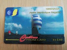 GRENADA  $ 40,- GPT GRE-13CGRC   PETITE MARTINIQUE REGATTA    MAGNETIC    Fine Used Card    **2256** - Grenada
