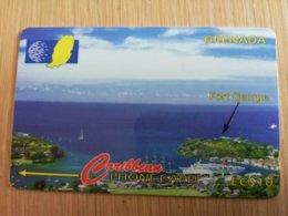 GRENADA  $ 10,- GPT GRE-51CGRB    ST GEORGE HARBOUR SHOWING FORT GEORGE    MAGNETIC    Fine Used Card    **2257** - Grenada