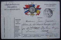 1915 Trésor Et Postes 32, Belle Carte En Franchise ! - Marcofilia (sobres)