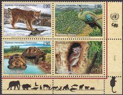 UNO-Genf, 2001, 409/12,  MNH **, Gefährdete Arten (IX): Fauna. - Sin Clasificación