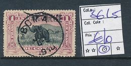 BELGIAN CONGO 1909 ISSUE COB 36L5 USED - Belgian Congo