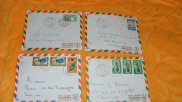 LOT DE 4 ENVELOPPES DE 1967 A 1970...REPUBLIQUE DU CONGO CACHETS KIBANGOU, MAKABANA, LOUTETE, EWO..+ TIMBRES - République Démocratique Du Congo (1964-71)
