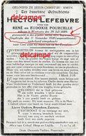 Oorlog Guerre Hector Lefebvre Westoutre Soldaat Gesneuveld Laatste Dag Van De Oorlog 11/11/1918 Sleidinge Wapenstilstand - Andachtsbilder