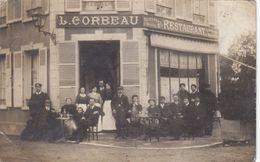 27 - PACY Sur EURE : Devanture De L'Hôtel De La Gare CORBEAU - Superbe Carte Photo - Commerce - Magasin - Pacy-sur-Eure