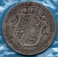 UK 1/2 CROWN 1909 Silver 0.925 KM# 802 EDWARDVS VII DEI GRA: BRITT: OMN: REX - 1902-1971 : Monedas Post-Victorianas