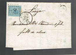 """Lac écrite De Buzet De Boite """"w """" / N° 18 De Pts 227 Luttre 23 FEVR 66 => Liège - Marcophilie"""
