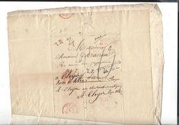 WARSZAWA   STRZALKOWO   1822  Entrée Prusse Par Givet , Pour Paris Autographe  Chovol ( ? ) - Poland