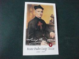 SANTINO HOLY PICTURE BEATO PADRE LUIGI TEZZA CON RELIQUIA - Religión & Esoterismo
