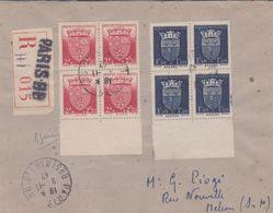 LSC - REC. De PARIS Avec Bloc De 4 Du N°558 Et Du N°559 - Marcophilie (Lettres)