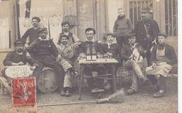 60 - AUTEUIL : Devanture Du Café ( Mariniers )  - Superbe Carte Photo - Commerce - Activité Fluviale - Sonstige Gemeinden
