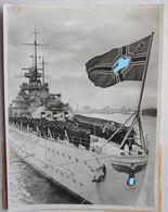Photo KRIEGSMARINE KREUZERS CRUISER Croiseur SCHARNHORST Inauguration 1939 Battleship German Marine - Bateaux