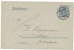 IZ786  German Reich, Postmark Witten 19-04-1904 - Ganzsachen