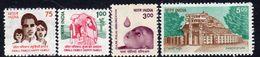 India 1994-9 Definitives Set Of 4, MNH, SG 1573/6 (D) - Indien