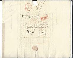 WARSZAWA   STRZALKOWO   1827  Entrée Prusse Par Givet , Pour Paris Autographe - Poland