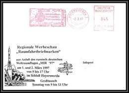 3165 Espace Space Lettre Cover Allemagne (germany Bund) Hoyerswerda 2/3/1997 + 24/2/4997 Mir 97 Soyuz Soyouz TM-25 - Europa