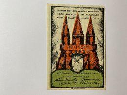 Allemagne Notgeld Altona 30 Pfennig - [ 3] 1918-1933 : République De Weimar