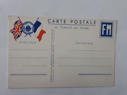 Carte Postale De Franchise Militaire Du Cheminot Aux Armées - FM - Carte Vierge ... Lot140 . - Marcophilie (Lettres)