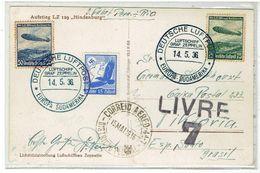 DEUTSCHE LUFTPOST - Aufstieg LZ 129 Hindenburg - 14-5-1936 - LIVRE 7 Deutschland - Brasil - Zeppelin Post - Zeppelins
