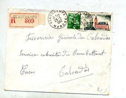 Lettre Recommandée Beauchamps Sur Moisson Calais - Postmark Collection (Covers)
