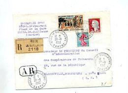 Lettre Recommandée Sille Sur Decaris Coty Medea - Postmark Collection (Covers)
