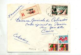 Lettre Recommandée Percy Sur Dinan Coty - Marcophilie (Lettres)