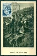 CM-Carte Maximum Card #1948-France (Yvert.N° 805) #Sites & Monuments,Tourisme, Abbaye,Abrei,Abbay By Conques ,Conques - 1940-49