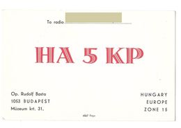 BUDAPEST - HUNGARY - CB RADIO - Radioamatore - Radioamateur - QSL - Short Wave - Sin Clasificación