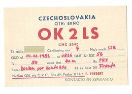 CZECHOSLOVAKIA CECA - CB RADIO - Radioamatore - Radioamateur - QSL - Short Wave Czech Republic - Sin Clasificación