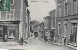 79 - PAMPROUX - Grande Rue Animée épicerie  - 1910 - EDITEUR H. GAUTRON - Sonstige Gemeinden