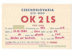 CZECHOSLOVAKIA CECA - CB RADIO - Radioamatore - Radioamateur - QSL - Short Wave - Sin Clasificación