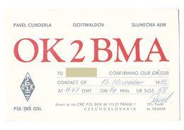 GOTTWALDOV SLUNECNA CZECHOSLOVAKIA CECA - CB RADIO - Radioamatore - Radioamateur - QSL - Short Wave - Sin Clasificación
