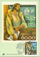CM-Carte Maximum Card #1980-Portugal # Europa - Europa CEPT # Vasco Da Gama, A Navegante,marin,Seefahrer,navigator, - Cartes-maximum (CM)