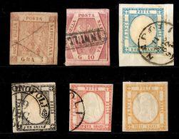 Naples Six Classiques Oblitérés 1858/1860. Bonnes Valeurs. A Saisir! - Naples