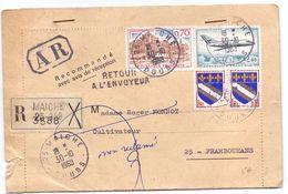 France Lettre Recommandée Avec AR De Maiche Doubs Pour Frambouhans Retour A L Envoyeur - 1961-....