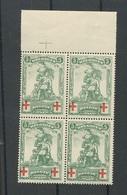 126 **. Bloc De 4.  Cote 48-euros - 1914-1915 Croce Rossa
